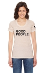 American Apparel Ladies Triblend Short Sleeve Track T-shirt - Good People